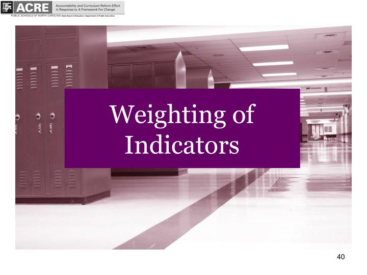 Weighting of Indicators