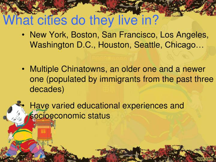 What cities do they live in?