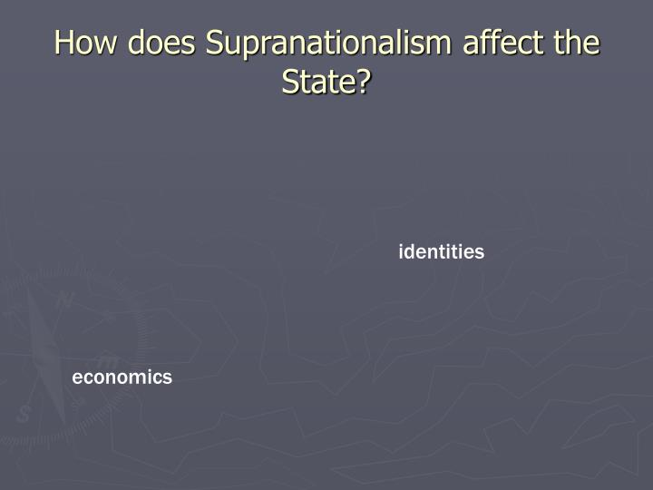 How does Supranationalism affect the State?