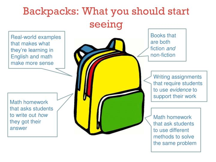 Backpacks: What you should start seeing