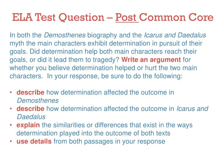 ELA Test Question –