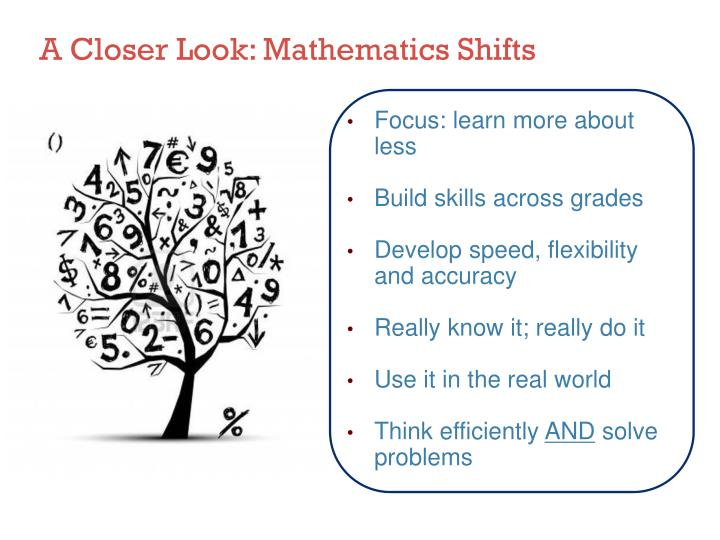 A Closer Look: Mathematics Shifts