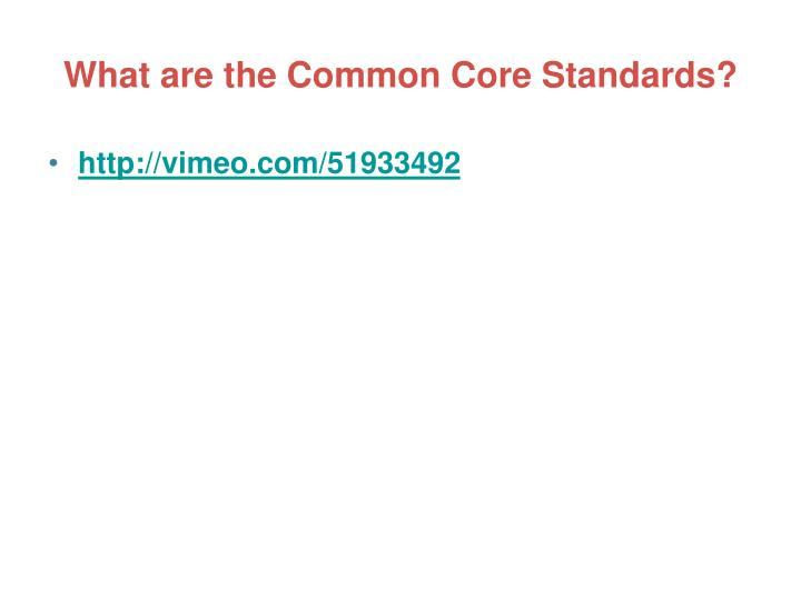 What are the common core standards