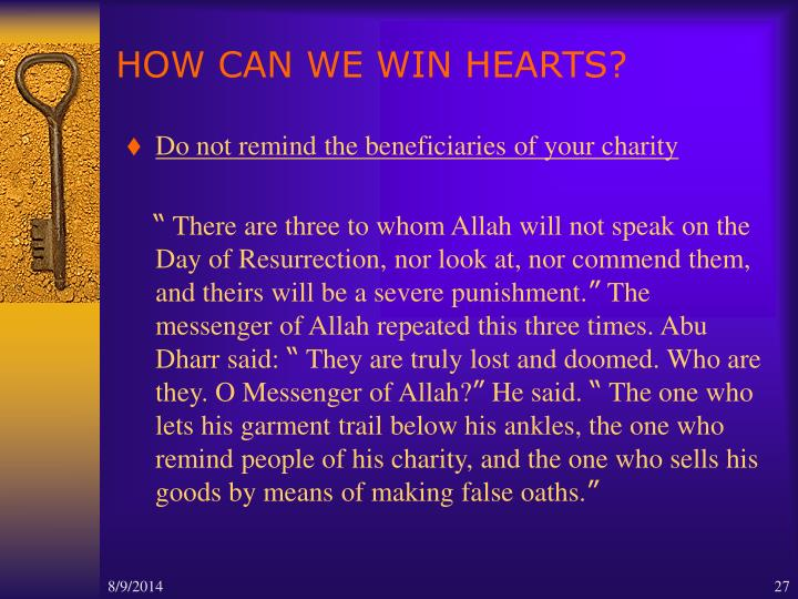 HOW CAN WE WIN HEARTS?