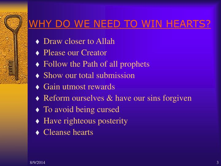 Why do we need to win hearts