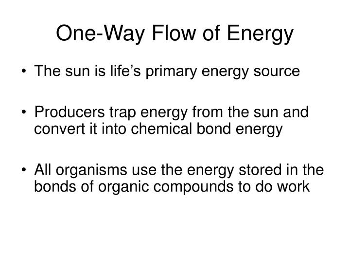 One-Way Flow of Energy