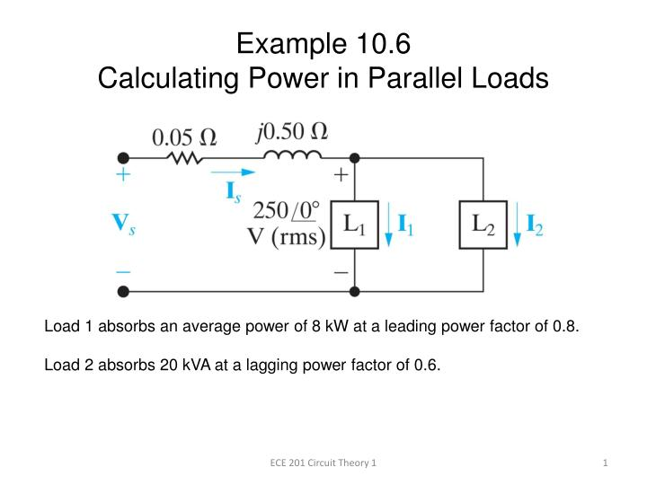 Example 10 6 calculating power in parallel loads