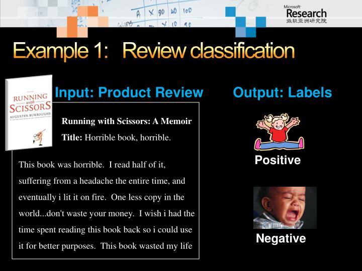 Example 1 review classification