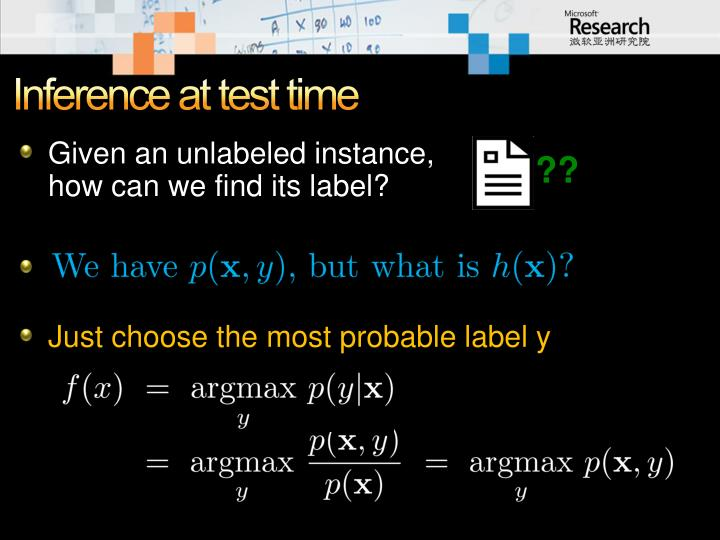 Inference at test time