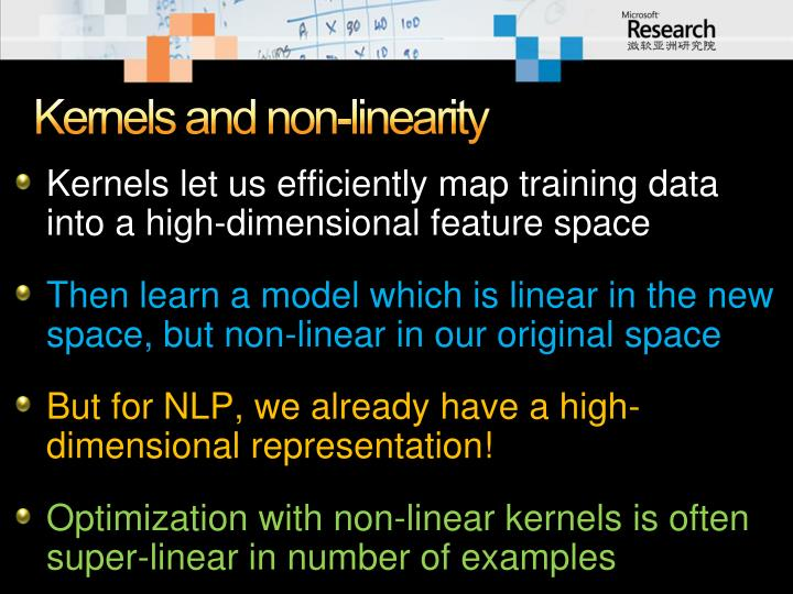 Kernels and non-linearity