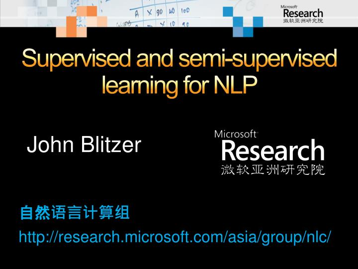 Supervised and semi supervised learning for nlp
