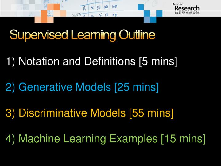 Supervised Learning Outline