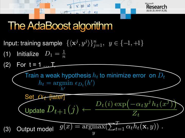 The AdaBoost algorithm