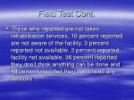 field test cont