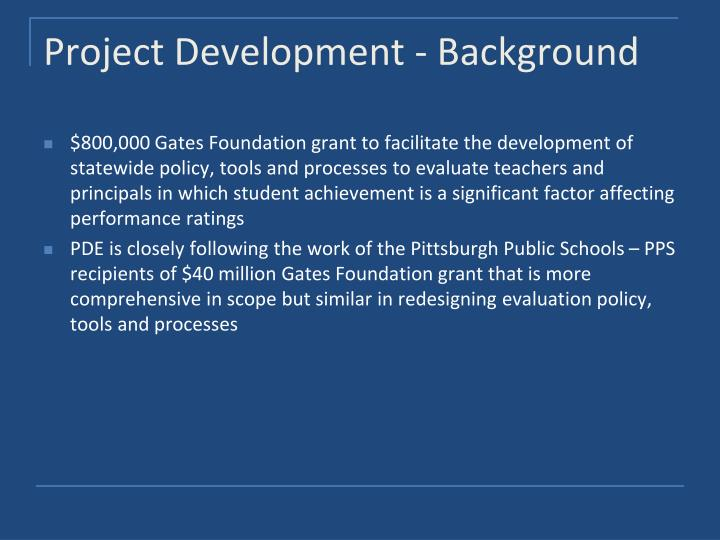 Project Development - Background
