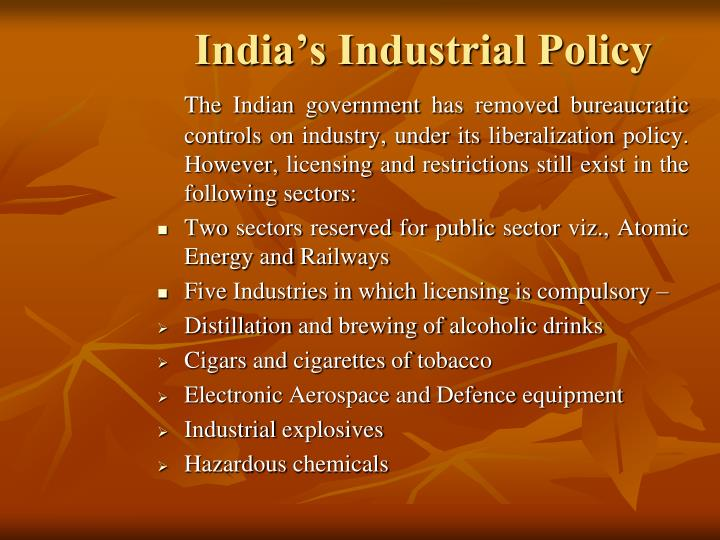India's Industrial Policy