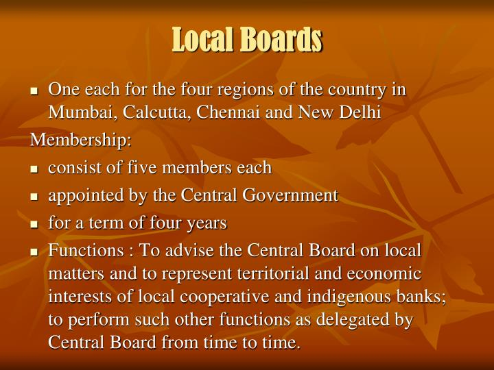 Local Boards