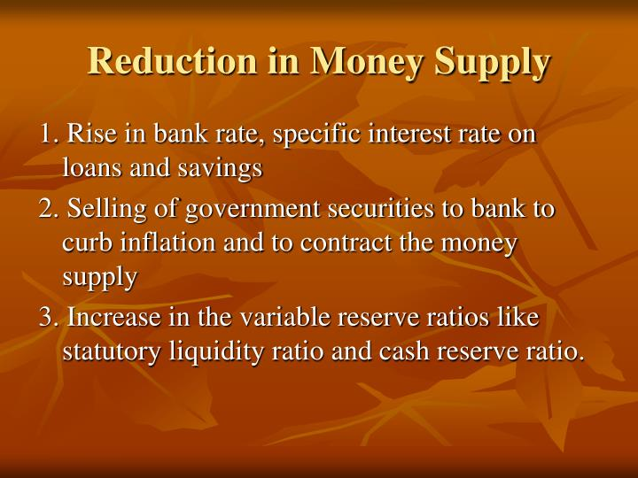 Reduction in Money Supply