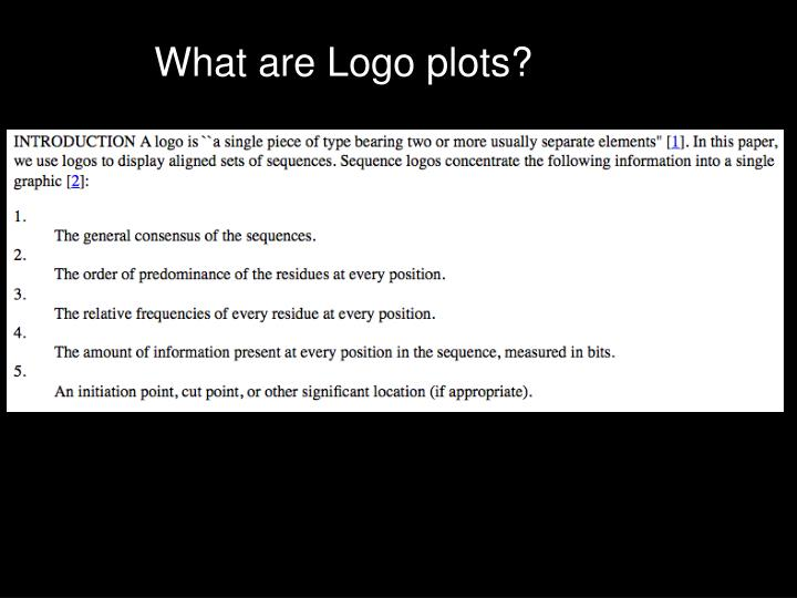 What are Logo plots?