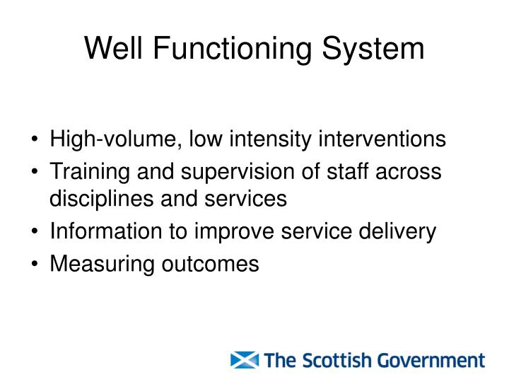 Well Functioning System