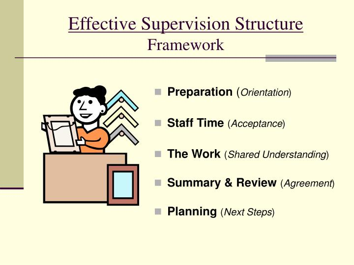 Effective Supervision Structure
