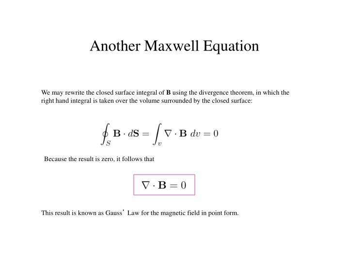 We may rewrite the closed surface integral of