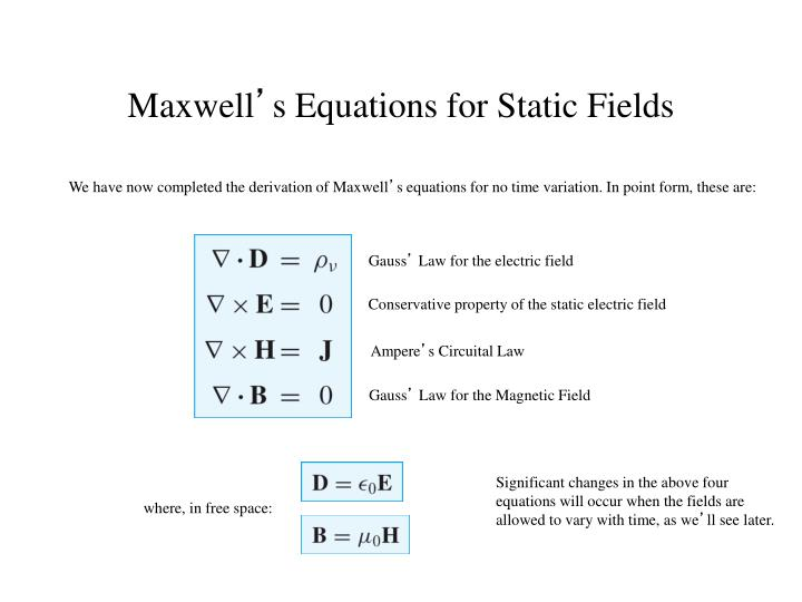 We have now completed the derivation of Maxwell