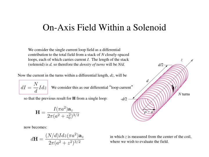 We consider the single current loop field as a differential