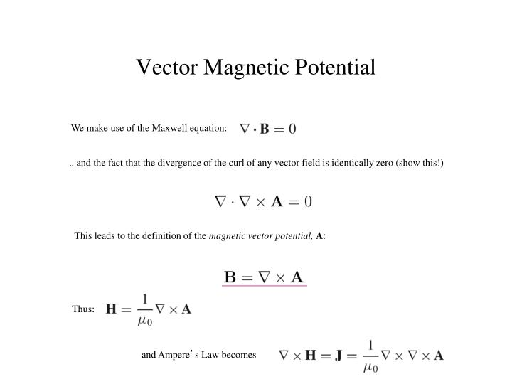We make use of the Maxwell equation: