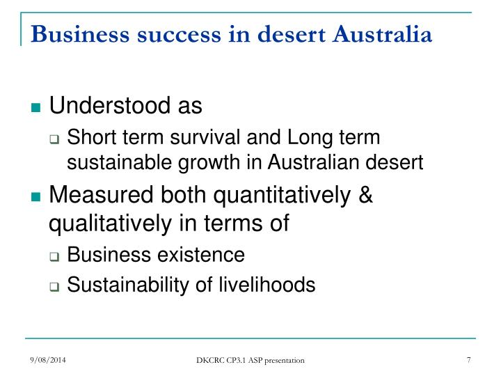Business success in desert Australia
