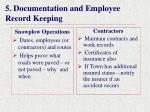 5 documentation and employee record keeping