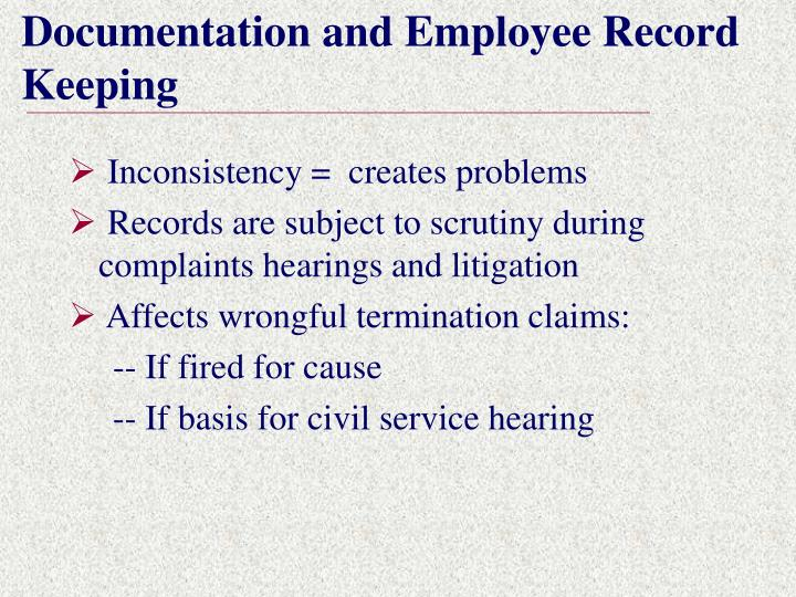 Documentation and Employee Record Keeping