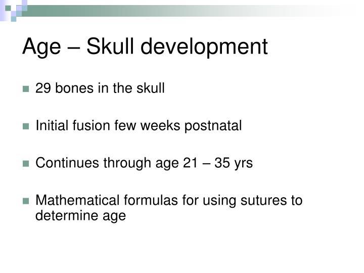 Age – Skull development