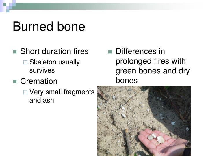 Short duration fires