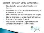 content themes in cccs mathematics