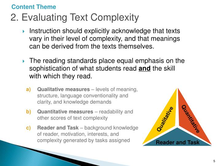 2. Evaluating Text Complexity