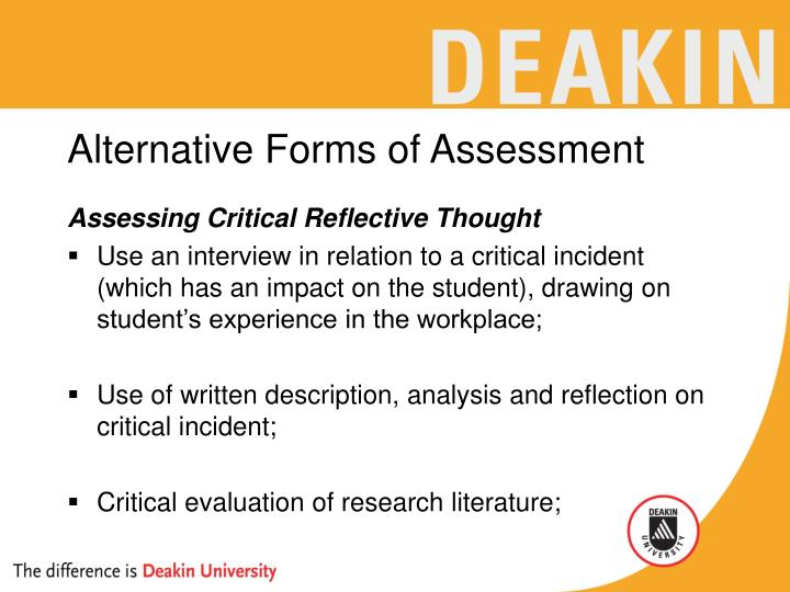 Alternative Forms of Assessment