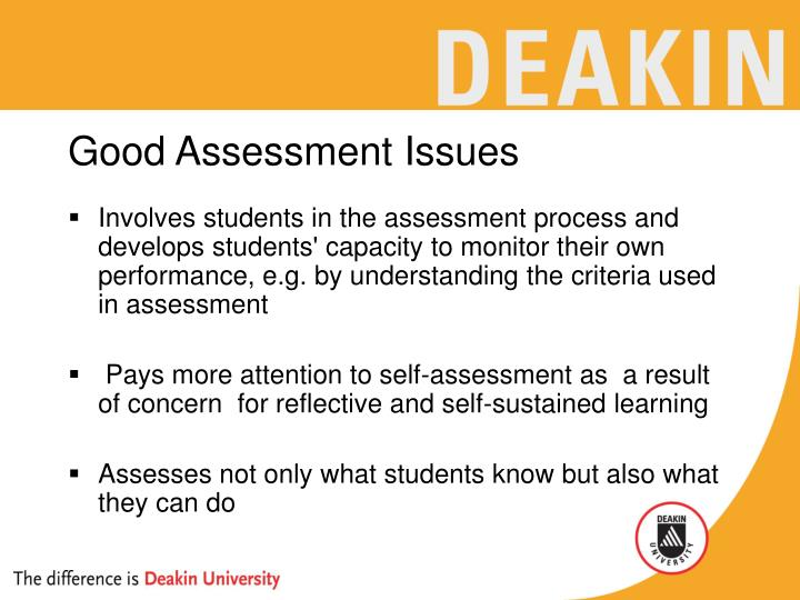 Good assessment issues1