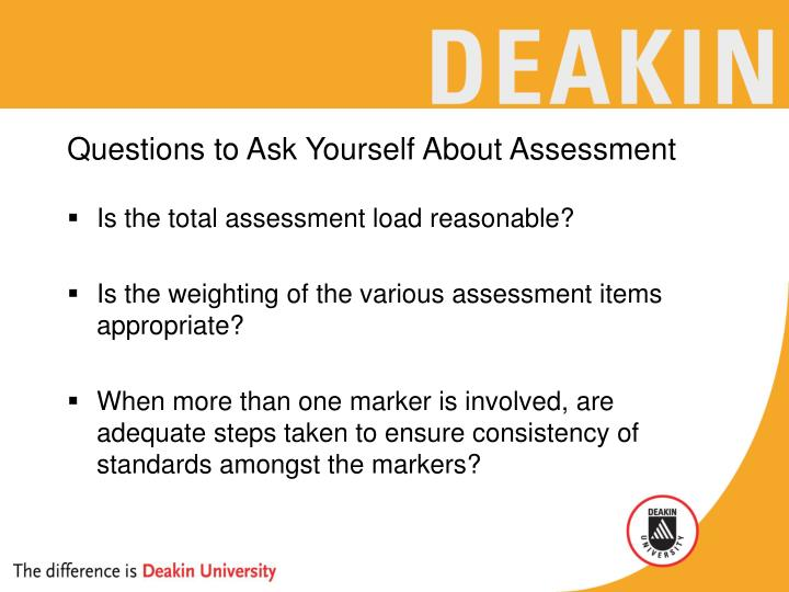 Questions to Ask Yourself About Assessment
