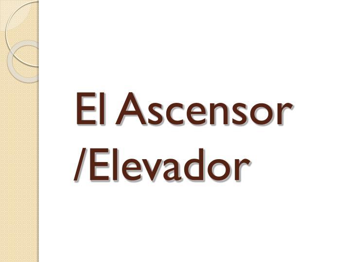 El Ascensor /Elevador