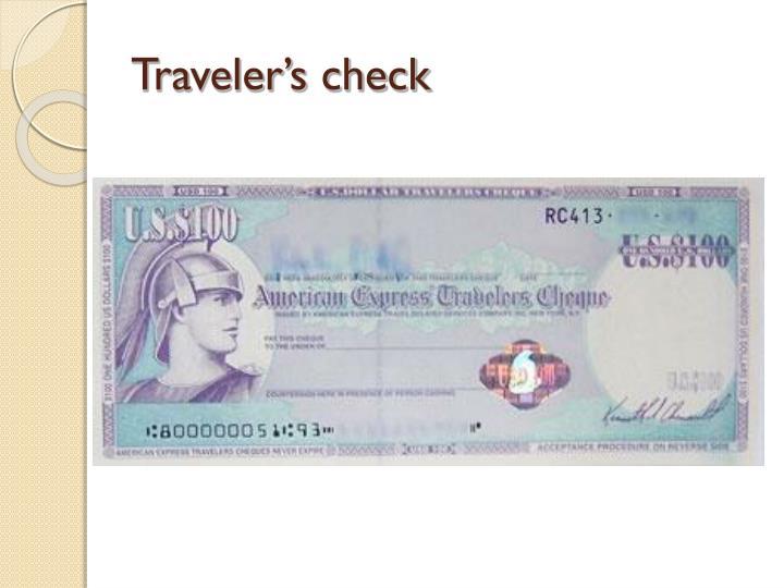 Traveler's check