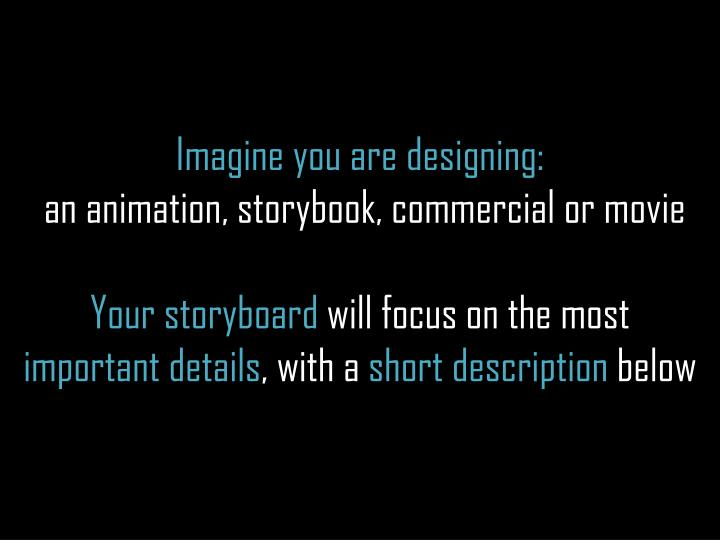 Imagine you are designing:
