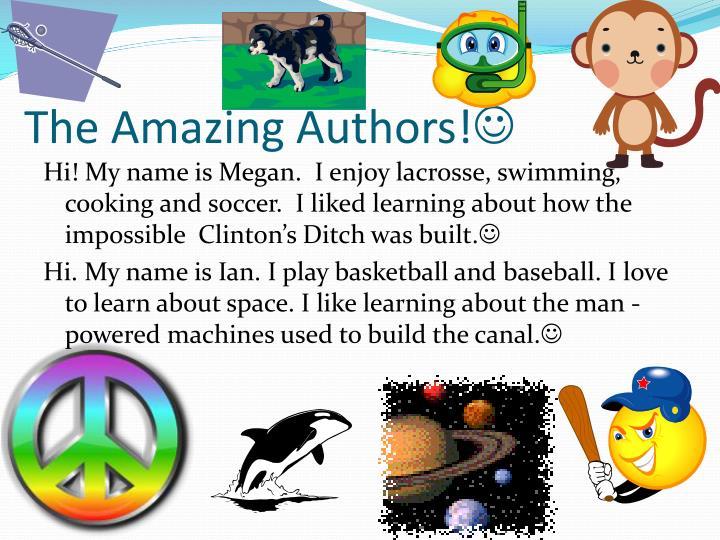 The Amazing Authors!