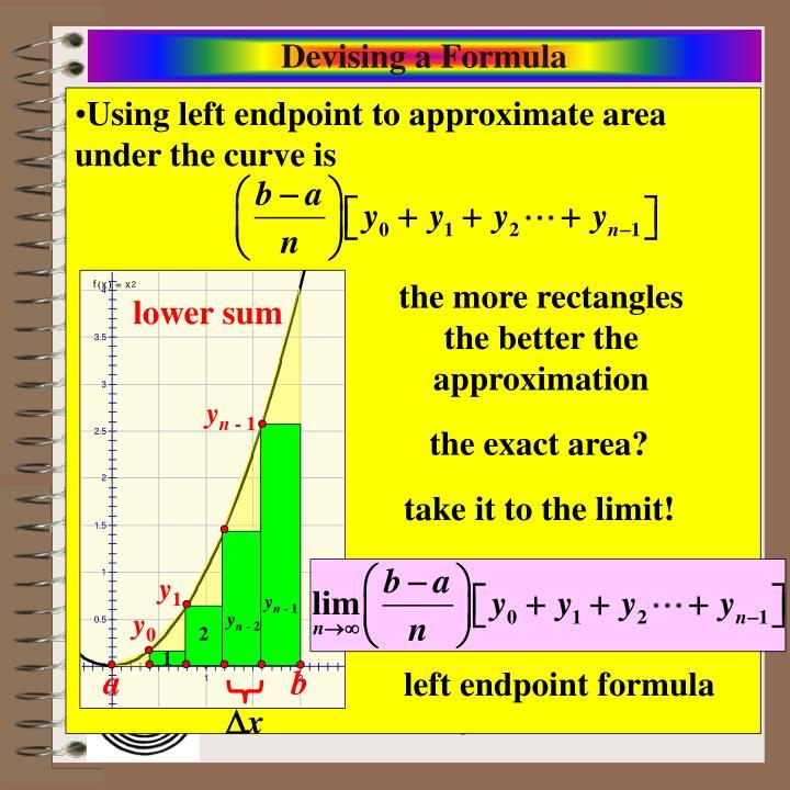 Devising a Formula