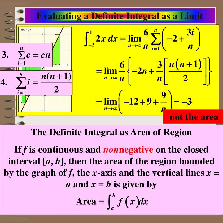 Evaluating a Definite Integral as a Limit