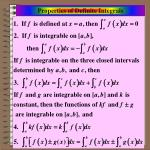 properties of definite integrals