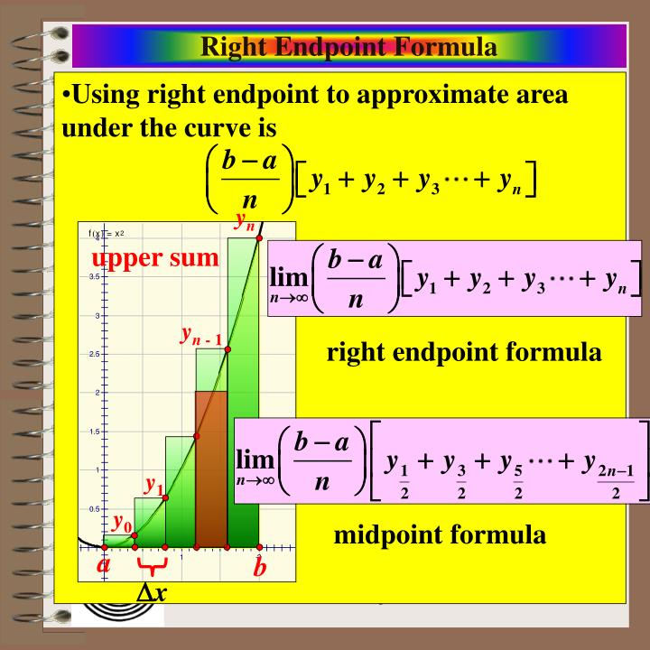 Right Endpoint Formula
