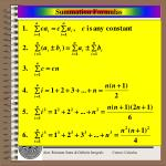 summation formulas