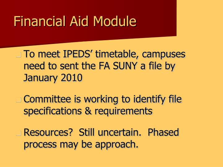 Financial Aid Module