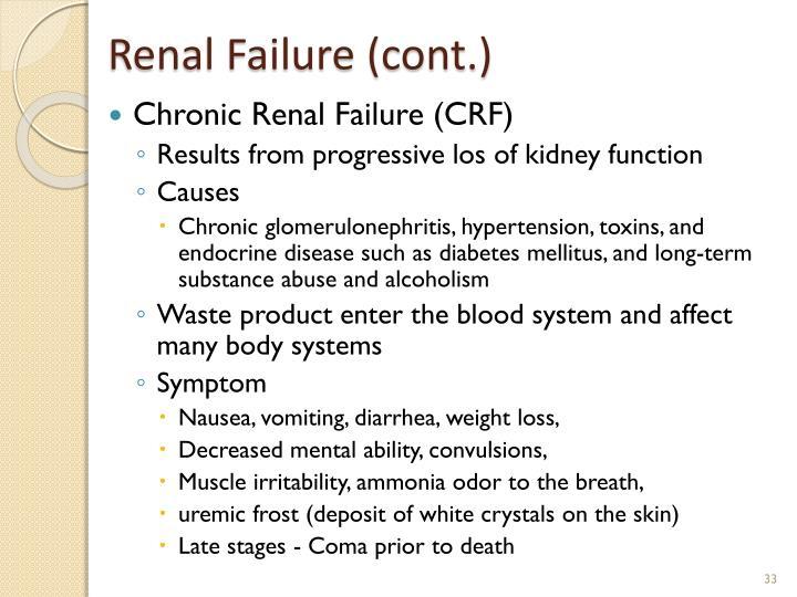 Renal Failure (cont.)